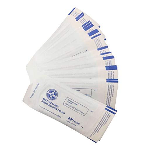 Artibetter 200 Pz Sacchetti di Sterilizzazione Autosigillanti Sacchetti per Sterilizzare Sacchetti in Autoclave per Strumenti di Pulizia Scatola Degli Strumenti Chirurgici Imballati 5. 7X13cm