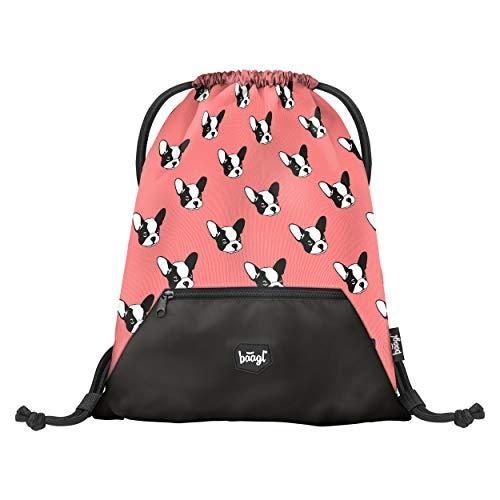 Baagl Turnbeutel für Mädchen - wasserdichte Schuhbeutel für Kinder - Schule und Kindergarten Sportbeutel, Sportsack (Doggie)