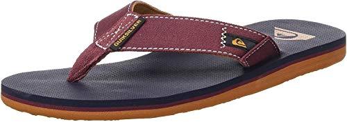 Quiksilver Molokai Abyss, Zapatos de Playa y Piscina para Hombre, Multicolor (Red/Blue/Red Xrbr), 43 EU