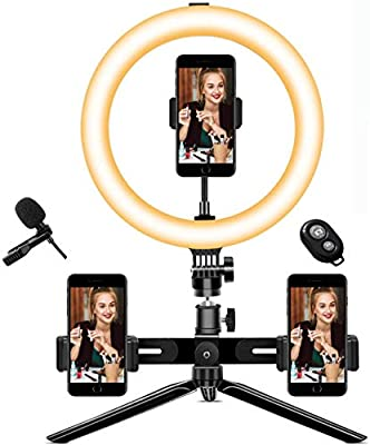 "10"" Selfie Ring Light with Tripod Stand and Phone Holder by hengyuanyi"
