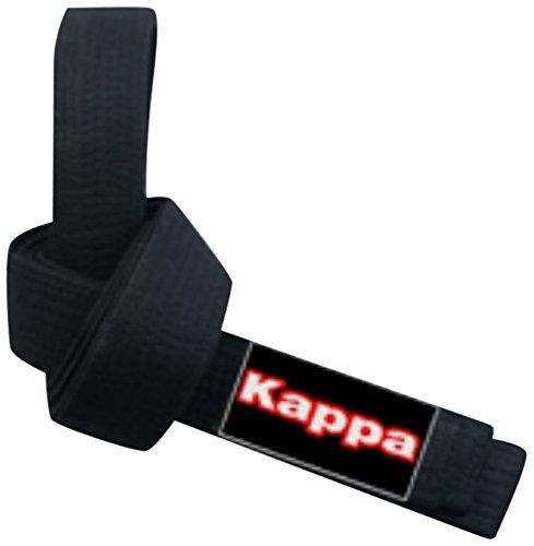 Kappa4Karate Montreal, Cintura Karate-Judo Unisex – Adulto, Nero, 3/280 cm