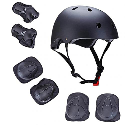 ANLKUJHF Conjunto de equipo de protección para niños ajustable casco rodilla coderas muñequeras para ciclismo Skateboarding Scooter para niños niñas patinaje equipo de protección