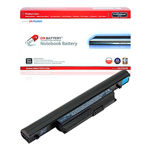Dr. Battery Laptop Battery for Acer AS10B75 AS10B31 AS10B41 AS10B51 AS10B5E AS10B6E Aspire 5553 5625G 5745 5745G 7745 7745G 5553 5553G 5745 5745G 7250 7739 7739G 7745 7745G [10.8V/4400mAh/48Wh]