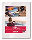 Glossy Photo Paper, 8.5 x 11 Inch, 100 Sheets, Better Office Products, 200 gsm, Letter Size, 100-Count Pack