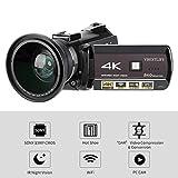 DAUERHAFT Cámara de Video Digital 4K con Zoom Digital 30X, para Acampar(European Standard 100-240V)