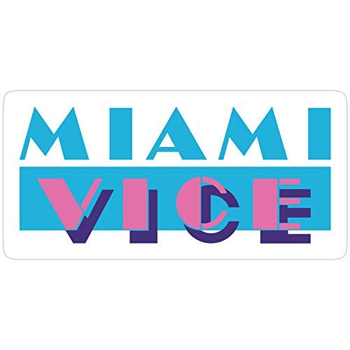 DKISEE Laptop Decal Stickers Miami Vice Stickers Vinyl Waterproof Car Bikes Bumper Sticker 6 inches