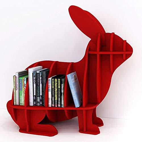 WHCCL Landschapsopberging, boekenkast, konijntje van hout, vensterweergave, houder voor kast, woonkamer