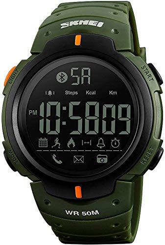 Reloj electrónico para deportes al aire libre, Bluetooth, podómetro, cámara, información, recordatorio de aplicaciones de aplicación, color verde