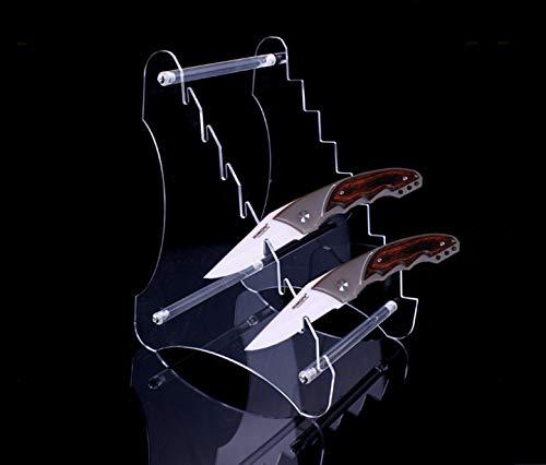Danuland 1 Stück acht Schichten Hochleistungs-Acrylmesser-Messeständer, Taschenmesser Staffelei Halter, Jagd Survival Knife Rack