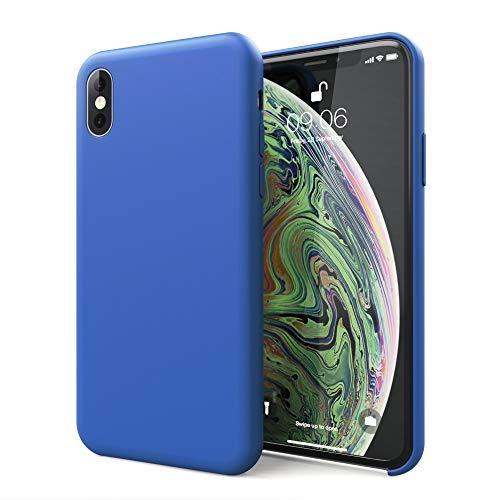 CELLONIC® Telefoon Hoesje compatibel met iPhone Xs Siliconen Etui donkerblauw Doos Tasje
