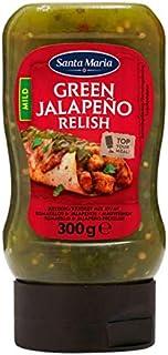 Jalapeño Relish Mild   Santa Maria   Salsa de jalapeño verde suave   Peso total 300 gramos