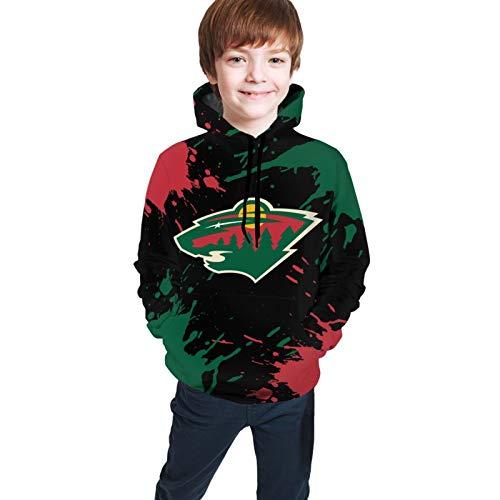 Minnesota H-Ockey W-Ild Children'S Hoodie Sweatshirt With Pocket Wophoods Loose Pullover Sports