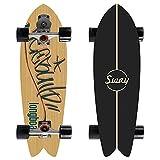 32'Professional Surfskate Talling Skateboard, Street Surfing Pumpping Skateboard, Principiante Concebo Cruiser Tablero Completo Maple de 7 Capas, camión CX4, Rodamientos ABEC-11,1