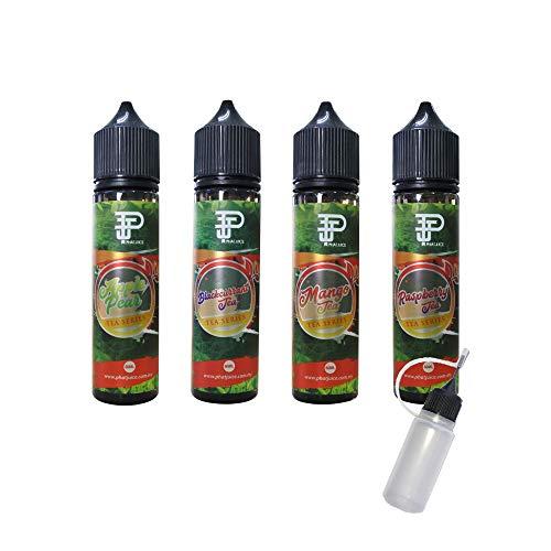 PhatJuice Tea シリーズ 60ml ファットジュース ティー 電子タバコ VAPE ベイプ リキッド 大容量 マレーシア産 輸入 アップルティー 梨 紅茶 リンゴ カシス 柑橘 マンゴー ラズベリー タール0 ニコチン0 pod型 に便利なニー