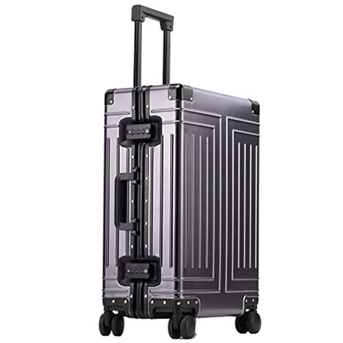 Caishuirong Luggage All Aluminum Magnesium Alloy Luggage Box Universal Wheel Trolley Case 26 Inch Aluminum Alloy Suitcase For travel and business trips (Color : C6, Size : 29inch)