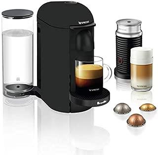 Nespresso VertuoPlus Coffee and Espresso Maker by Breville with Aeroccino, Matte Black