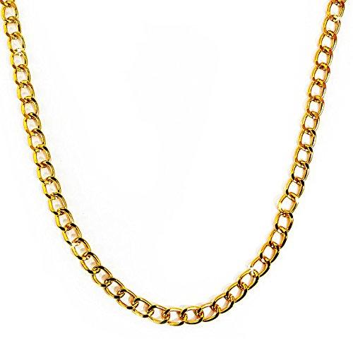 Oblique-Unique® Kette, Rapper Gold Goldene Rapper Gangster Kette - satter Goldlook - perfekt zum Protzen
