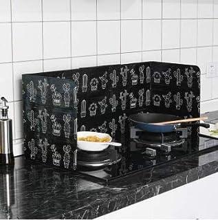 Nicoone Anti-stänk skärmskydd kök olja baffel platta sida stänkskydd spis värmeisolering ark aluminiumfolie oljefläcksäker...