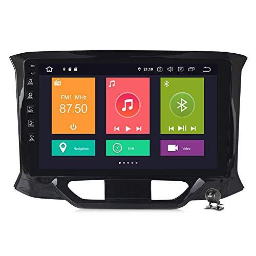QBWZ Car Stereo Android 9.0 Radio para Lada XRAY 2015-2019 Navegación GPS Pantalla táctil de 9 Pulgadas Unidad Principal Reproductor Multimedia MP5 Video con 4G WiFi DSP Mirror Link Bluetooth
