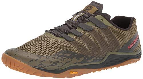 Merrell Men's Trail Glove 5 Sneaker, Olive DRAB/Beluga, 11.0 M US