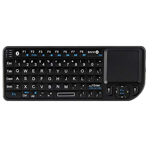 MJYGV computer keyboard UKB-100 Bluetooth Wireless Ultra Mini Keyboard with Touchpad for Mobile/PC/Presenter Use(Black) MJ