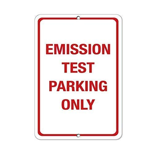 DKISEE Aluminum Plaque Emission Test Parking Only Parking Sign Durable Rust Proof Aluminum Sign Warning Sign Aluminum Metal Sign 10