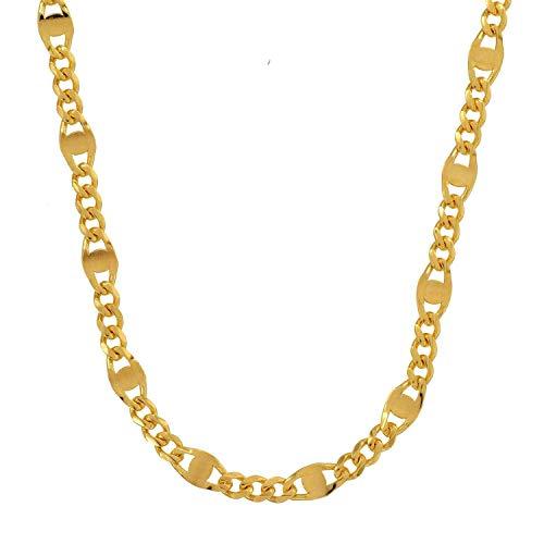 3,1 mm 50 cm 585-14 Karat Gelbgold Panzerkette massiv Gold hochwertige Halskette 5,5 g