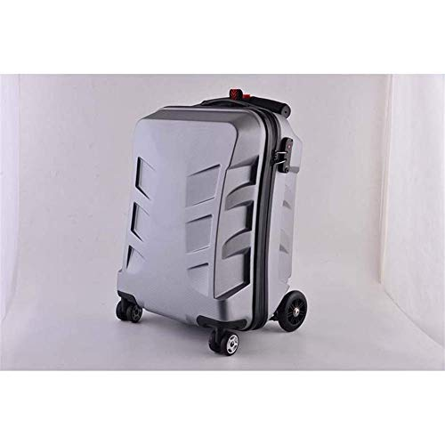 RTRD 20 inch Creative Cabin Trolley Computer Travel Bag Multifunction Skateboard Rolling Luggage Password Suitcase Wheels,Blue,20'