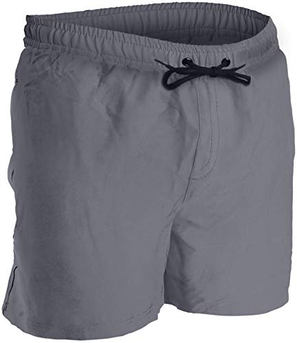 Men's Swim Trunks and Workout Shorts - XL - Gray - Perfect Swimsuit or Athletic Shorts for The Beach, Lifting, Running, Surfing, Pool, Gym....