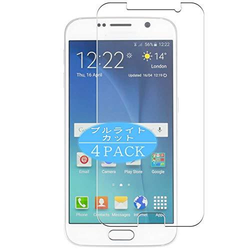 VacFun 4 Piezas Filtro Luz Azul Protector de Pantalla, compatible con Samsung Galaxy S6 SC-05G / G9200 G920 G9208 G9209 G920A, Screen Protector Película Protectora(Not Cristal Templado) NEW Version