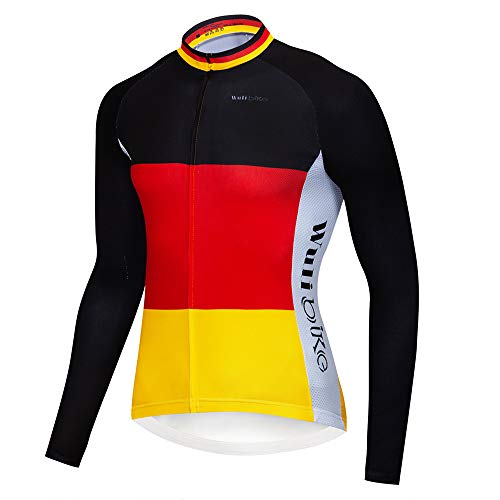 Herren Nation Flagge Radtrikot mit kurzen Ärmeln und 3D Pad Trägerhose Set Deutschland Frankreich Italien Spanien