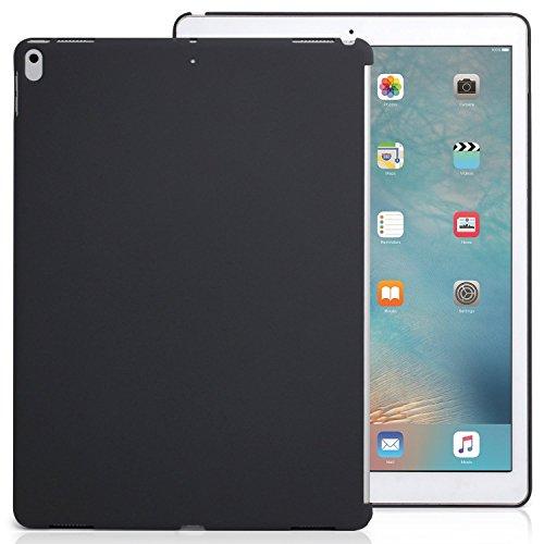 KHOMO iPad Pro 12.9 (2017 & 2015) Rückseite Abdeckung Hülle Hülle Schutzhülle Kompatibel mit Smart Cover & Tastatur - Dunkelgrau