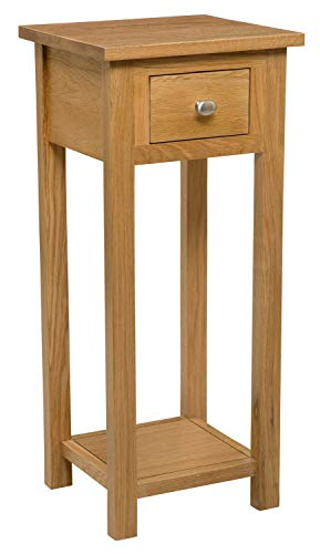 Hallowood Waverly Small Console Light Oak Finish | Solid Wooden Hall Side/End Table/Telephone/Bedside Stand, Medium
