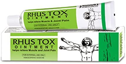 Homeopathic Cream ~ Bakson's Rhus Tox Ointment for painful swelling joints.pain of muscles, tendons & ligaments, Stiffness of neck & joint 1X25g
