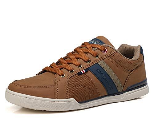 AX BOXING Sneakers Hombre Zapatos Casual Zapatillas Moda Ligero Deporte Gimnasio Running Tamaño 41-46 (Marrón, Numeric_42)