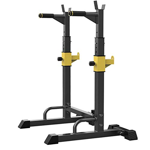 Squat Rack Pull Up Bar Dominadas Sentadillas Stand Ajustables Anchura Y Altura Barra Pesas Estante MAX 300Kg Musculacion Levantamiento De Pesas Rack