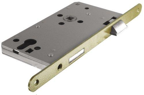 ABUS Tür-Einsteckschloss Profilzylinder THZ90 HG R hammerschlag-gold für DIN-rechts Türen 20817
