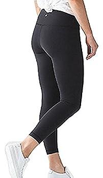 Lululemon High Times Pant Full On Luon 7/8 Yoga Pants  Black 8