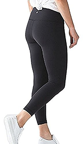 Lululemon High Times Pant Full On Luon 7/8 Yoga Pants (Black, 4)