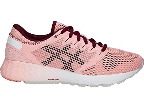 ASICS Women's Roadhawk FF 2 Running Shoes, 7.5M, Frosted Rose/Cordovan