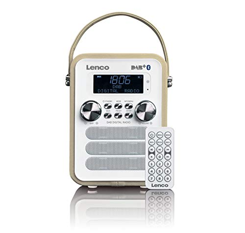 Lenco - Radio (Portátil, Digital, Dab+,FM, 87,5-108 MHz, 3 W, LCD)