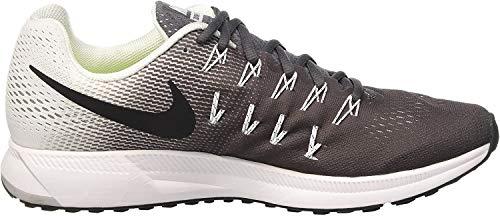 Nike Herren Air Zoom Pegasus 33 Laufschuhe, Grau Dunkelgrau Schwarz Weiß, 42.5 EU