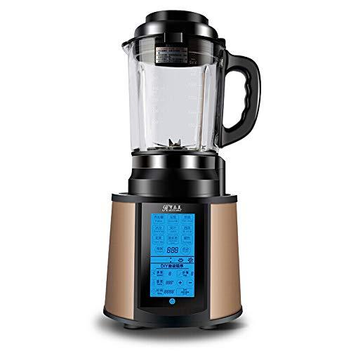 Smoothie-Mixer, 2200 Watt Smoothie-Maker, Gewerblicher Mixer, Hochgeschwindigkeits-Krug-Mixer-Maschine 45000 U/min, Funktionseismixer mit Tamper, 8 scharfe Klingen, Schwarz, Geschwindigkeitsregler
