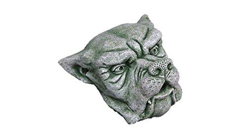 Wasserspeier Gargoyle, Steinfigur, Kopf für die Wand, aus Steinguss