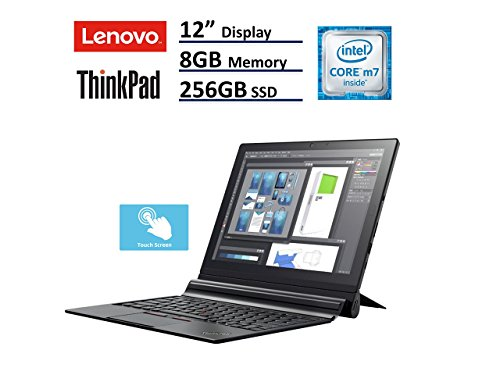 Lenovo ThinkPad X1 Tablet Laptop (12in (2160x1440) IPS FHD + Touchscreen, Intel Core m7-6Y75, 256GB SSD, 8GB RAM, ThinkPad Pen Pro, Windows 10 Professional) (Renewed)