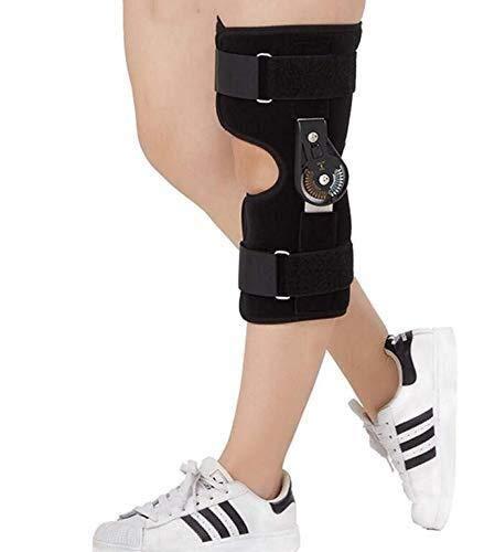 Busirsiz Bisagra de articulación de la Rodilla Ayuda de la Rodilla del ligamento lesión de Rodilla Conjunto de Apoyo de corrección fijos Equipo de Protección (Size : Large)