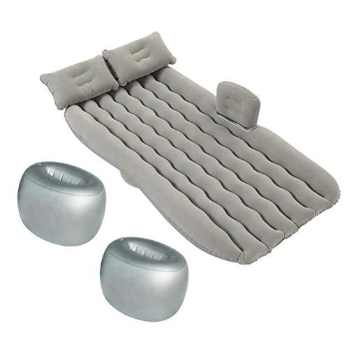 Zixin Auto-Luftmatratze aufblasbares Bett PVC Beflockung Matratze Wave-Reisebett mit 2 Kopfstütze 2 Air Support Pad, for LKW/SUV/Minivan (Farbe: Grau) (Color : Grey)