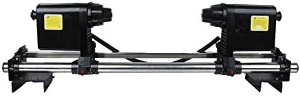 US Stock 54'' 64'' 74'' Automatic Media Take up Reel System Paper Pickup Roller with 2 Motors for Roland Mutoh ValueJet 1324 / Valuejet 1304 / RJ-900C Epson Mimaki Roland Inkjet Printers