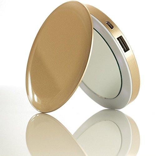 Hyper 44463 Pearl Mini-compacte spiegel-accu, 1600 mAh, goudkleurig