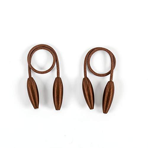 Baomasir 2 Stücke Kreativ Raffhalter Clips Seil Rückwärtige Vorhang Halter Schnallen Gardinenhalter für Haus Dekoration, Brown